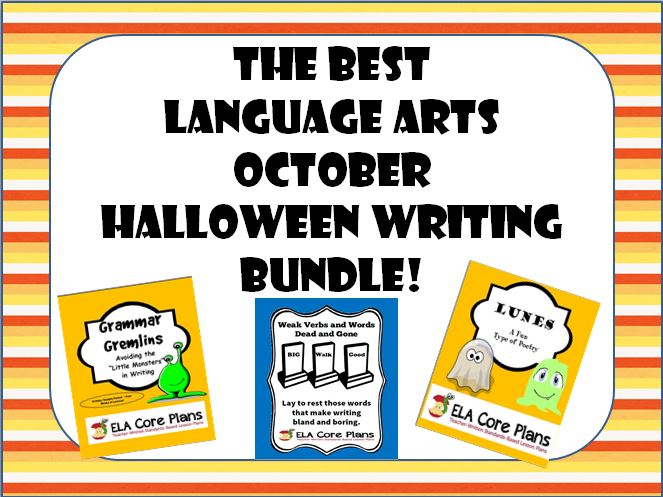 The Best Language Arts October Halloween Writing Activities Bundle ...
