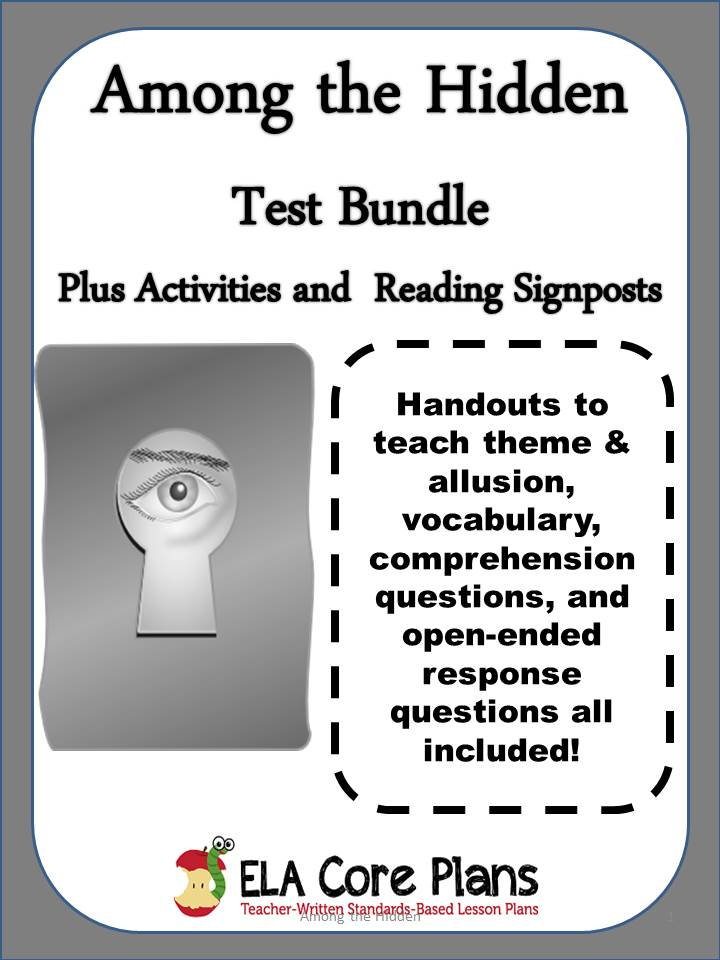 among the hidden test bundle plus activities and reading signposts  cover for among the hidden test bundle plus activities and reading signposts